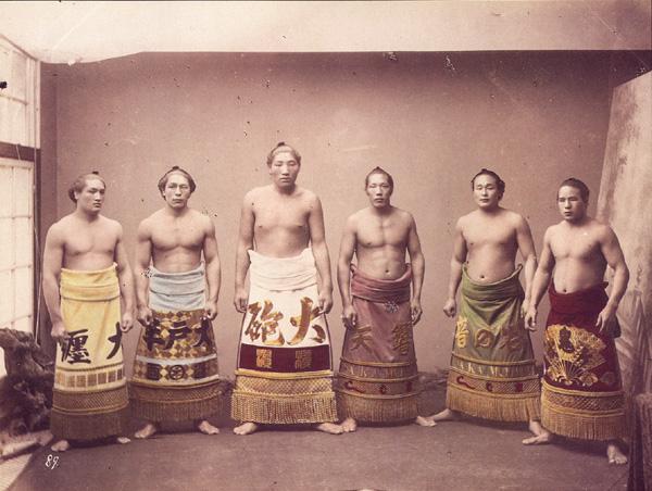 Sumo wrestlers circa 1890